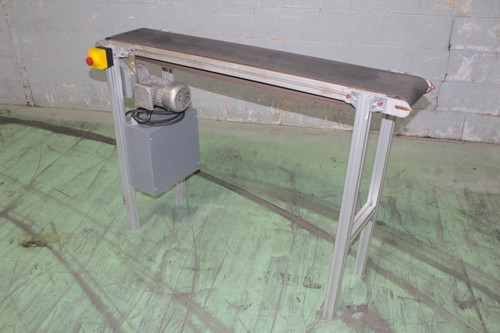 Dorner Style Belt Conveyor 51 In. Long x 8 In. Wide with Speed Control 120Vac