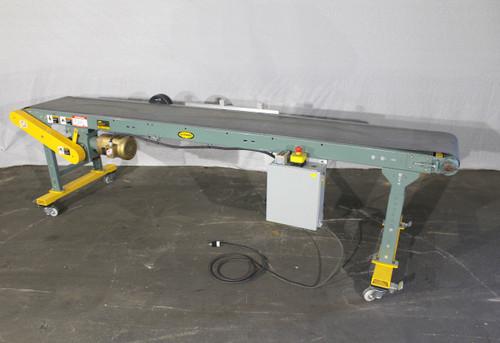 """Hytrol Slider Bed Belt Conveyor 11' x 18"""" Baldor  1/2Hp Motor Speed Control 120V"""
