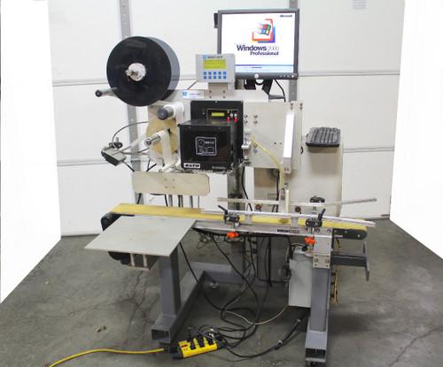 Label-Aire 3138N-RH Print & Apply Label Applicator, Dorner 2200 Conveyor
