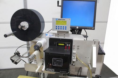 Label-Aire 3138N-RH Print & Apply Label Applicator, Dorner 2200 Conveyor, 120V