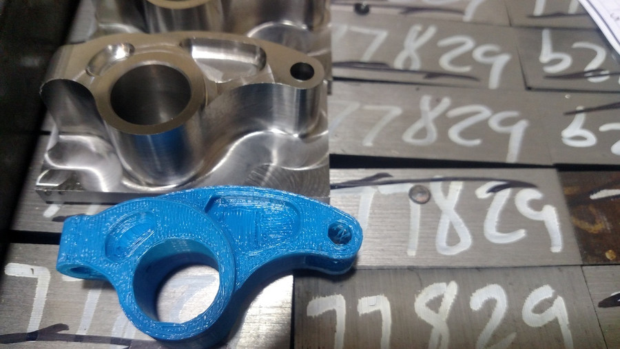 From 3-d prototype to grain aligned billets, to  after first opp