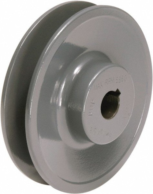 "AK25X1 Finished Bore Sheave, 1"" Bore, Uses 3L, A Belt, 1 Groove"