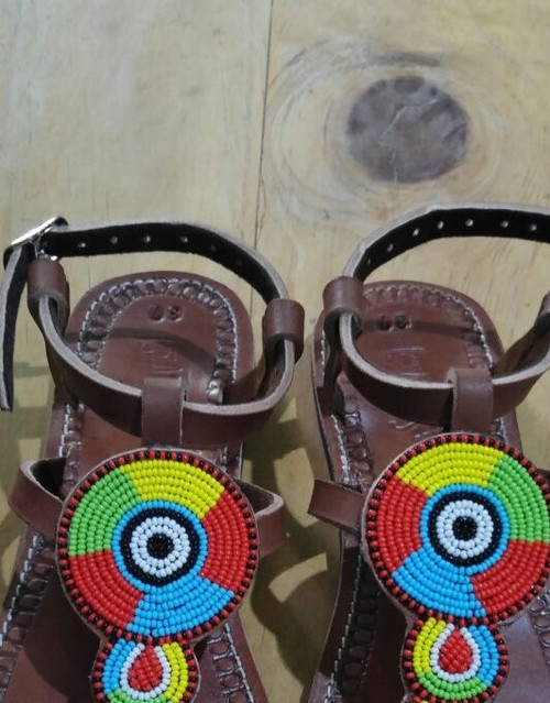 Beaded sandals and gladiators