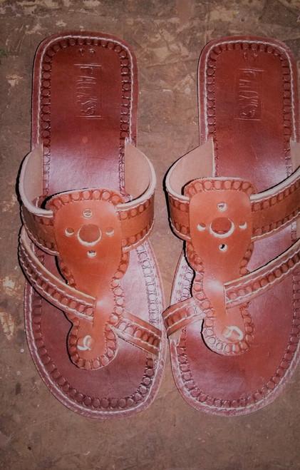 Layered design sandals