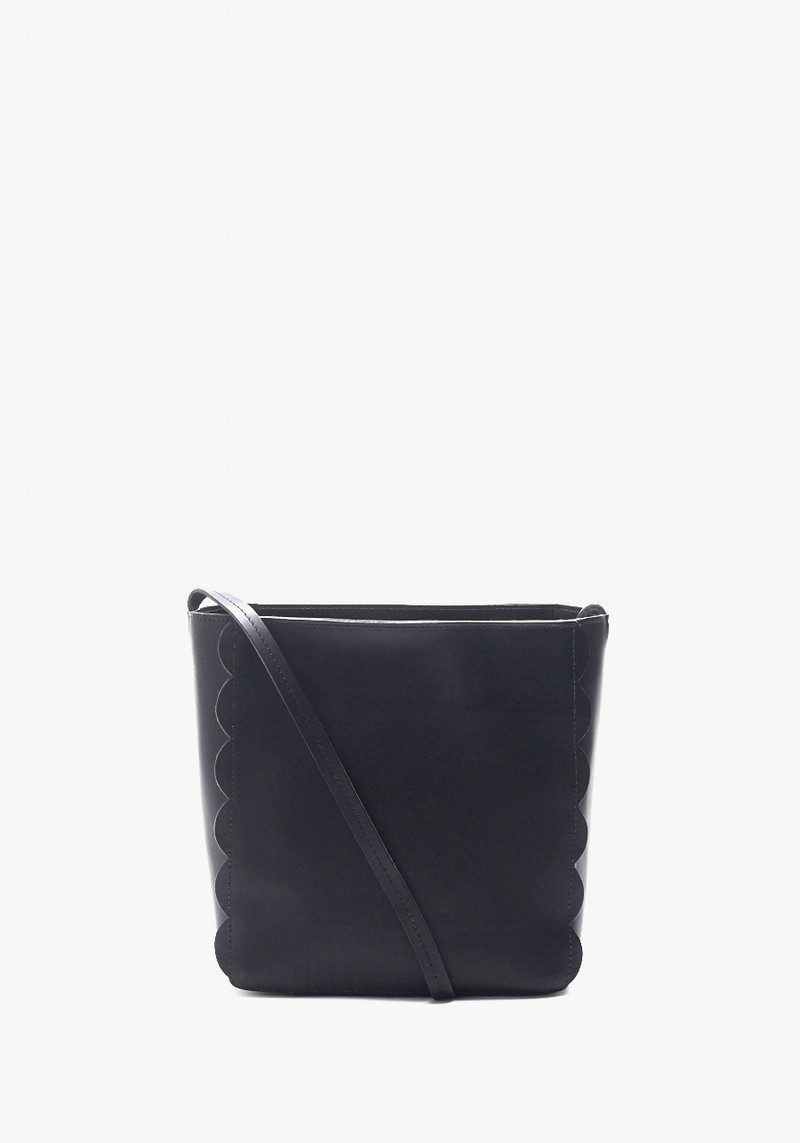 Clare Vivier Black Scalloped Ines Bag with Netty