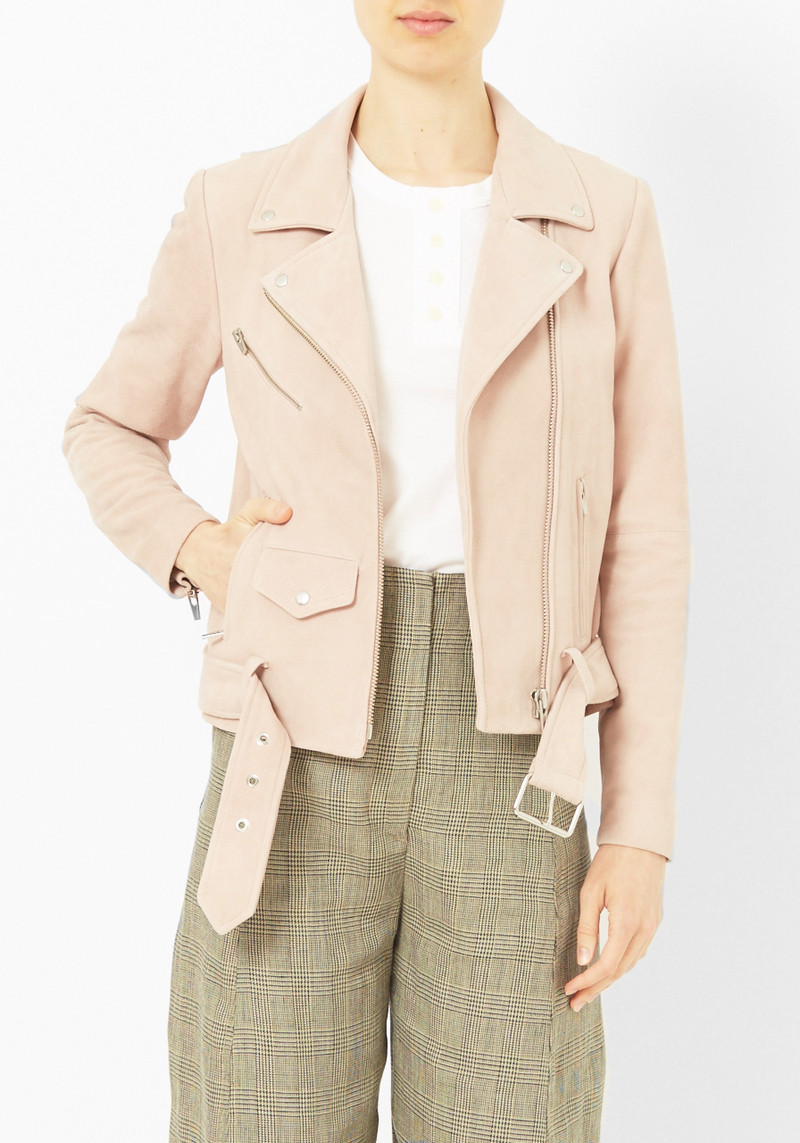 Veda Pink Cloud Jayne Suede Jacket