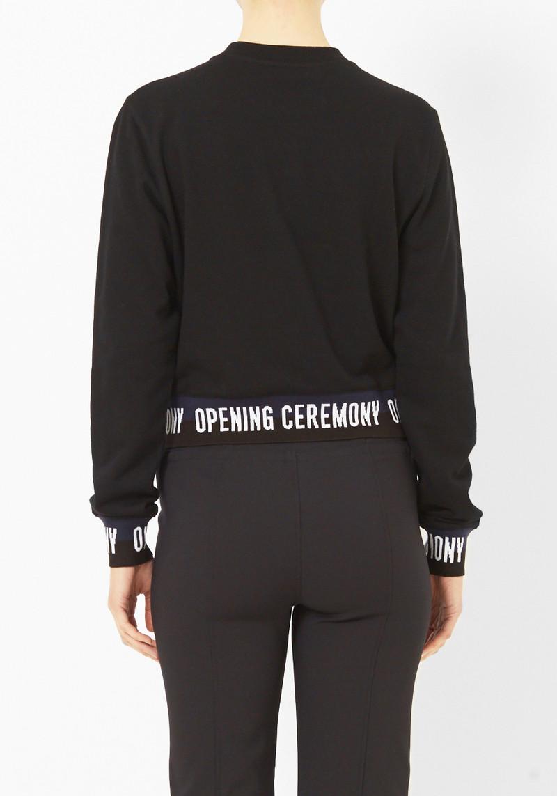 Opening Ceremony Elastic Logo Crop Sweater