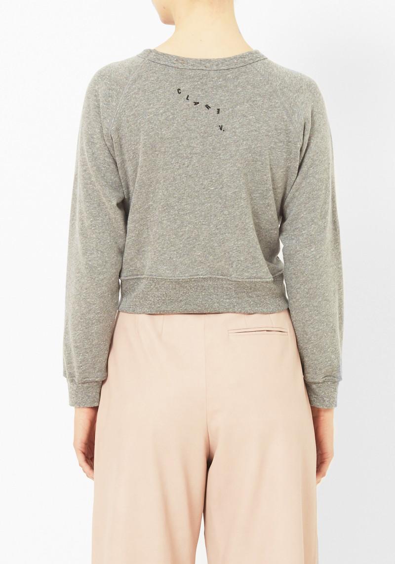 """Clare Vivier """"Bon Pour Les Filles"""" Cropped SweatShirt"""