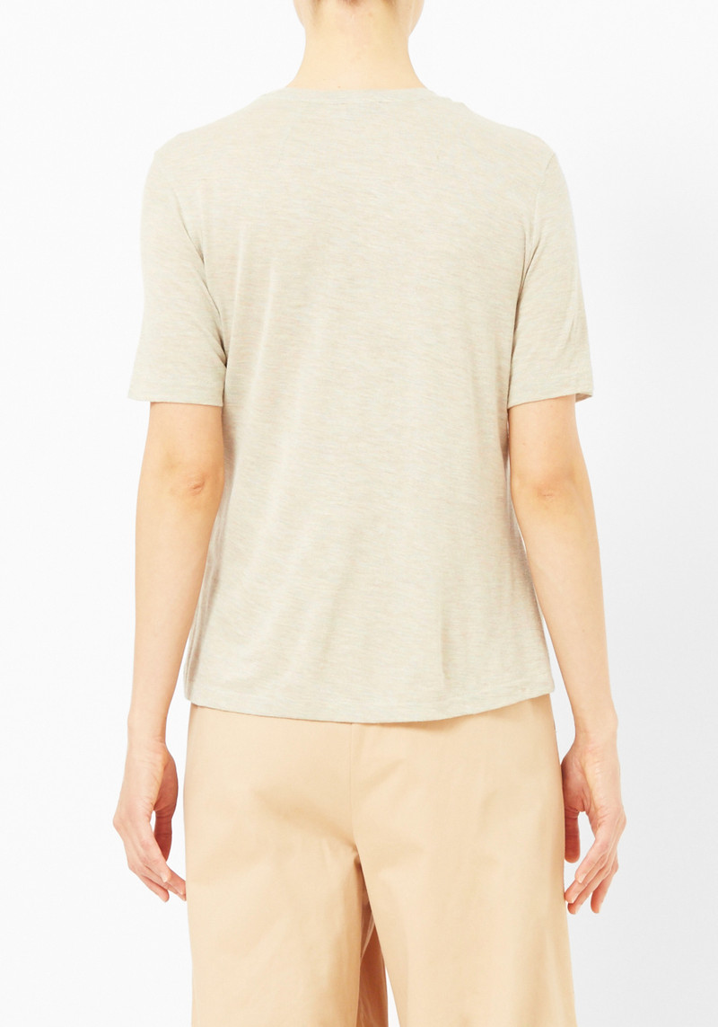 Totême Oatmeal Heather Tee