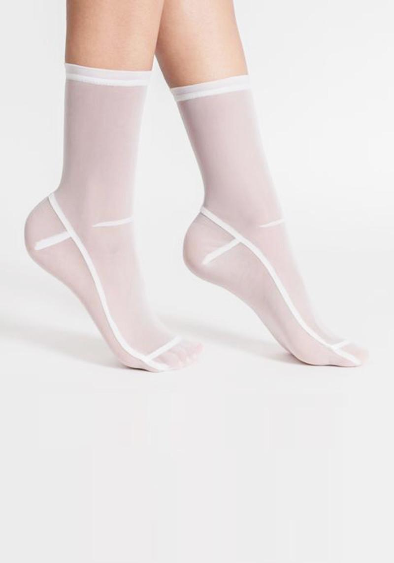 Darner White Socks