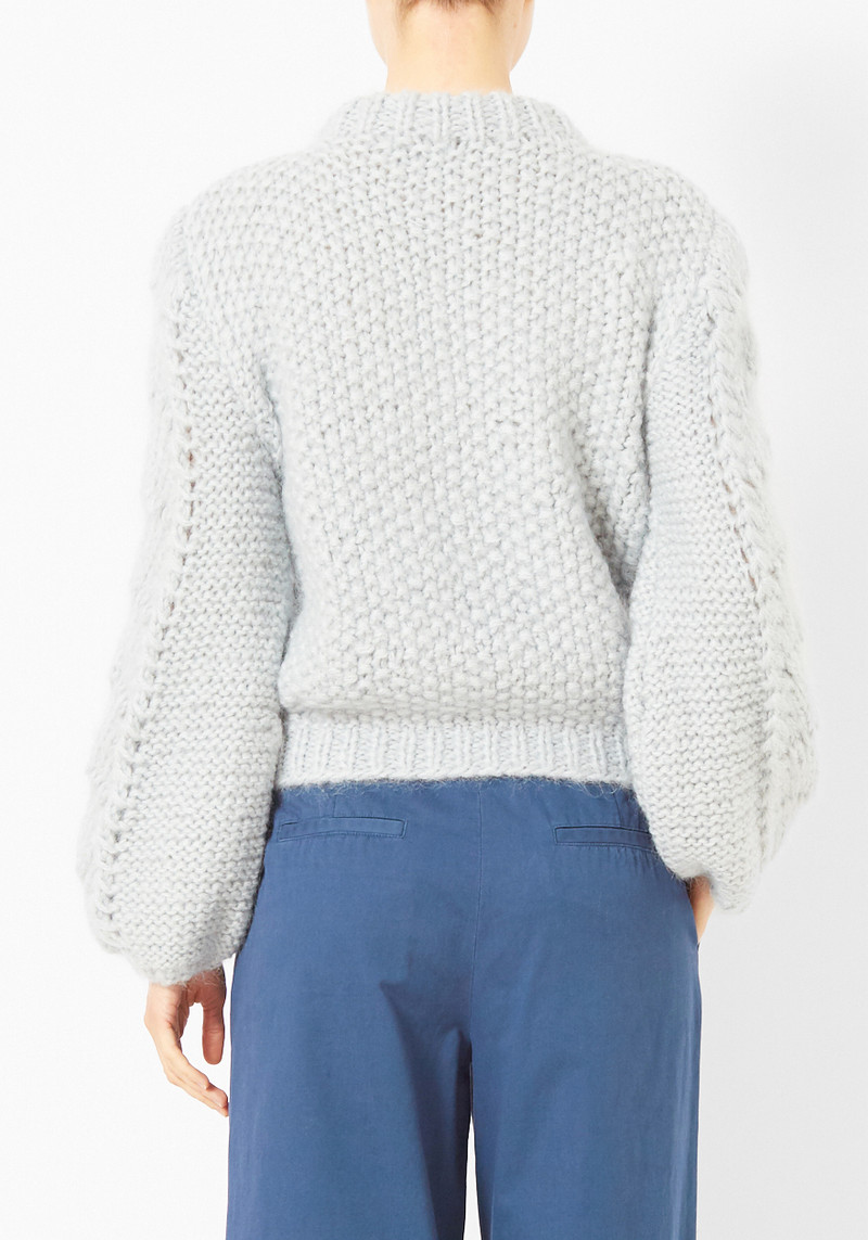 Ganni Pearl Blue Faucher Sweater