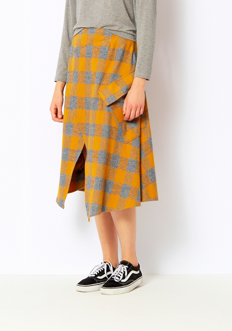 _SCAPES Ochre Wyckoff Wrap Skirt