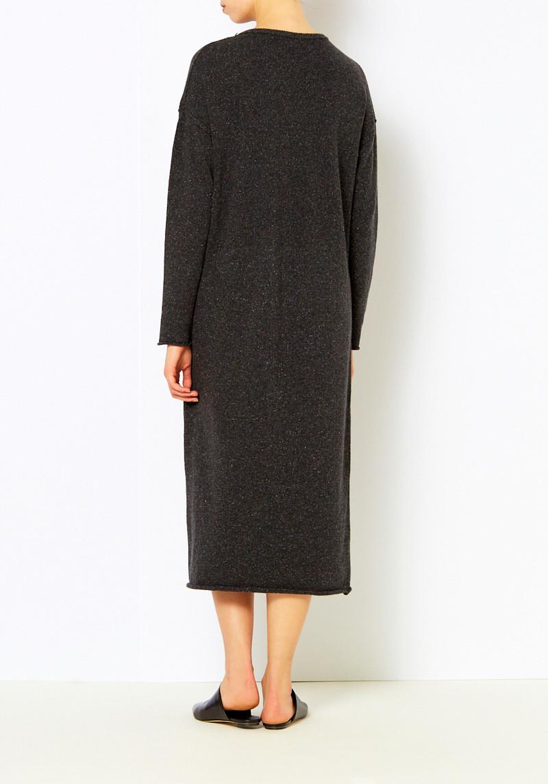 Micaela Greg Black Speckled Sweater Dress