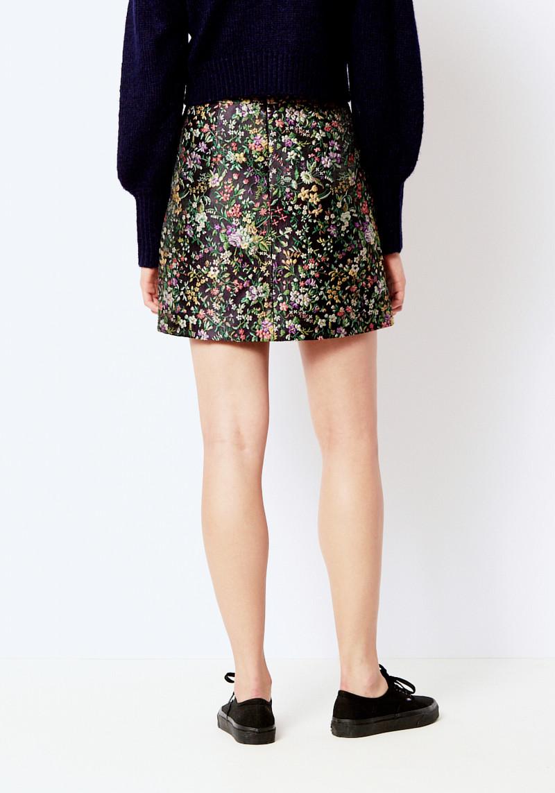 Tibi Floral Jacquard Mini Skirt