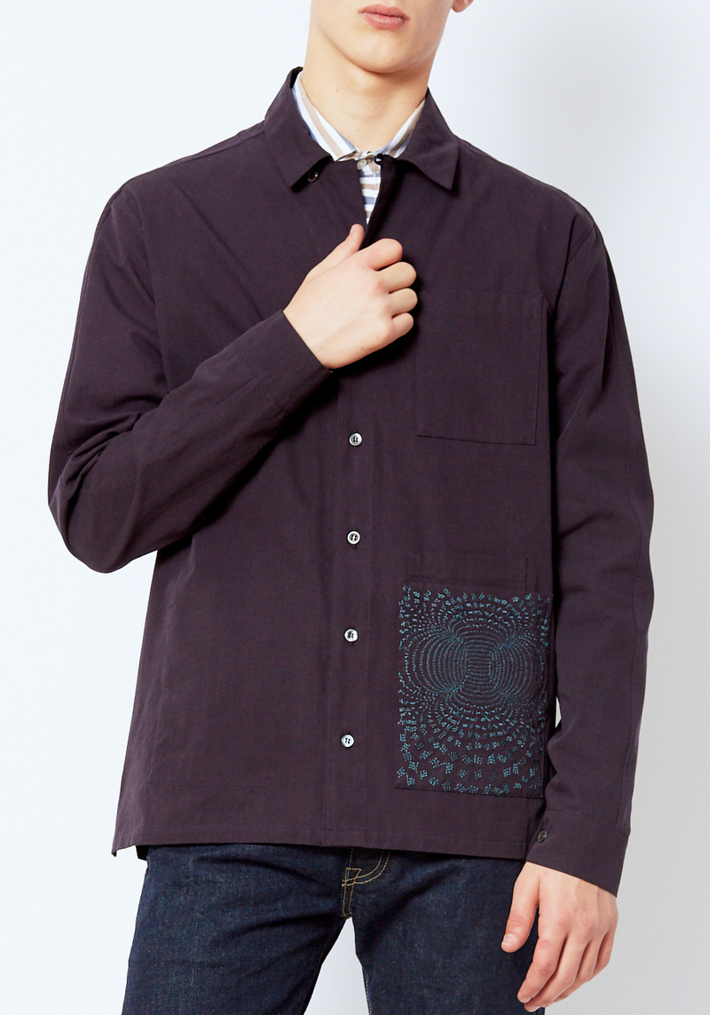 DDUGOFF Ripstop Embroidered Overshirt