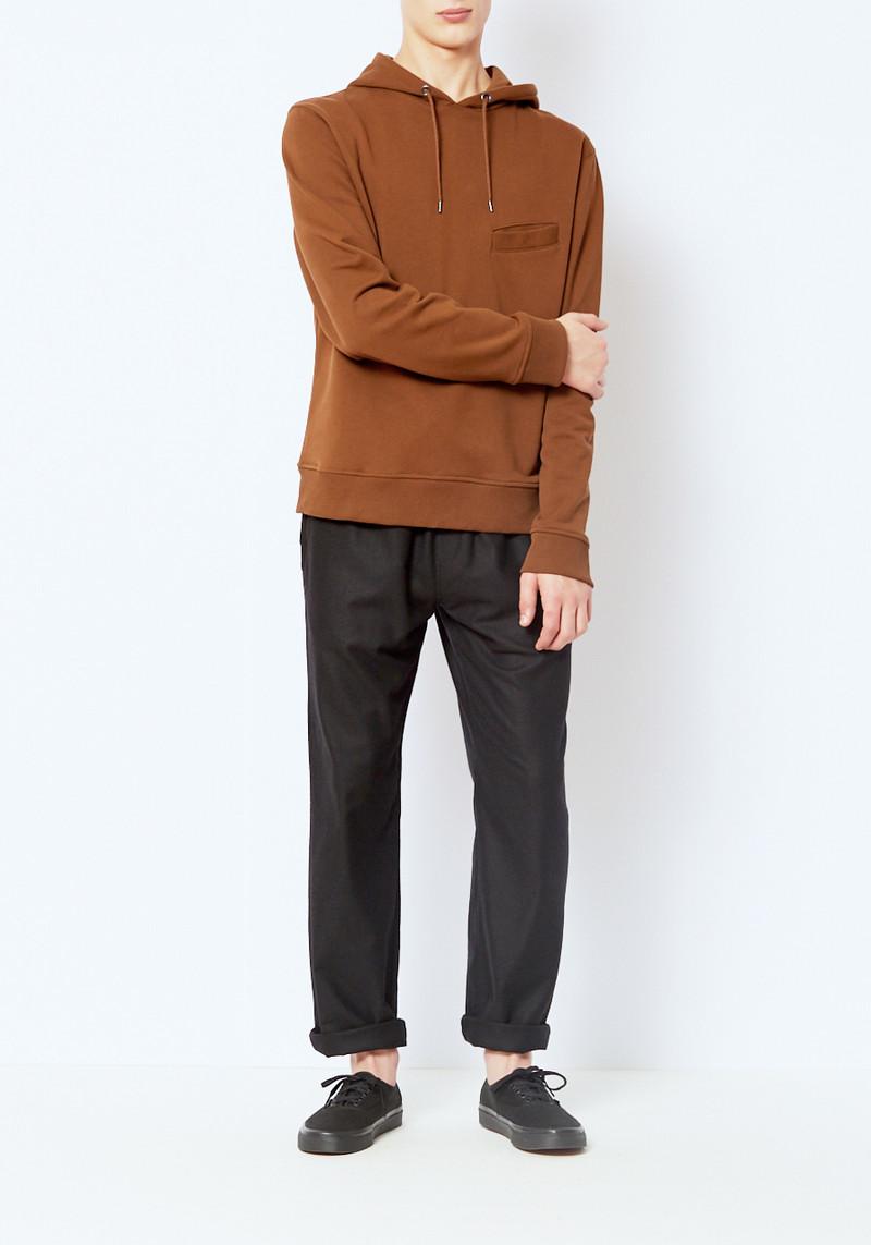 L'Homme Rouge Brown Hooded Sweatshirt
