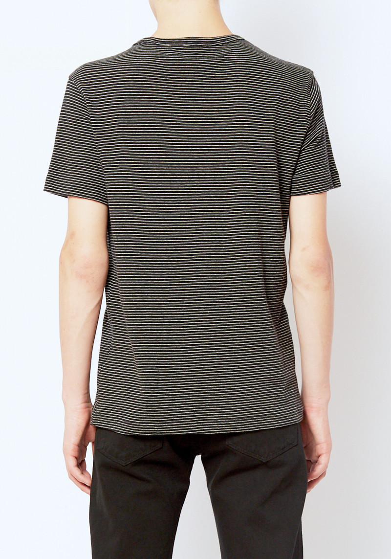 You Must Create Black Stripe Henri Tee