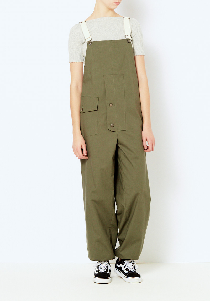Creatures of comfort oversized green overalls