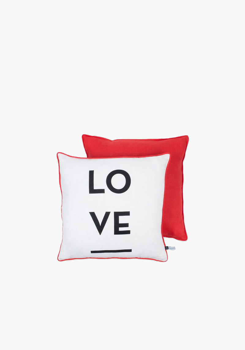 mona de castellaurnau large red and white love pillow
