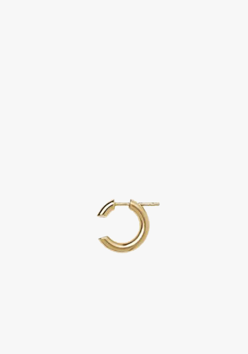 maria black yellow gold hoop earring