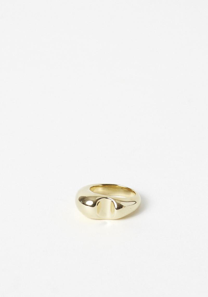 leigh miller brass bite statement ring