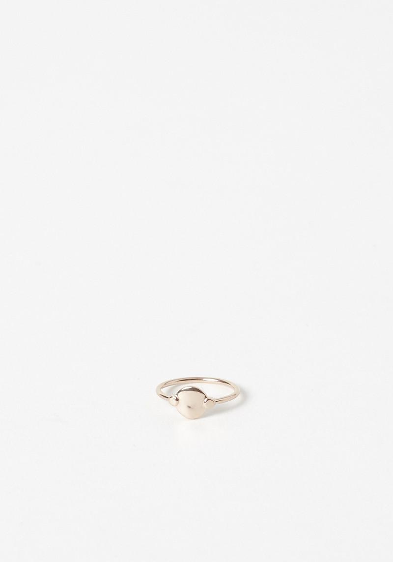 Maria black rose gold ring