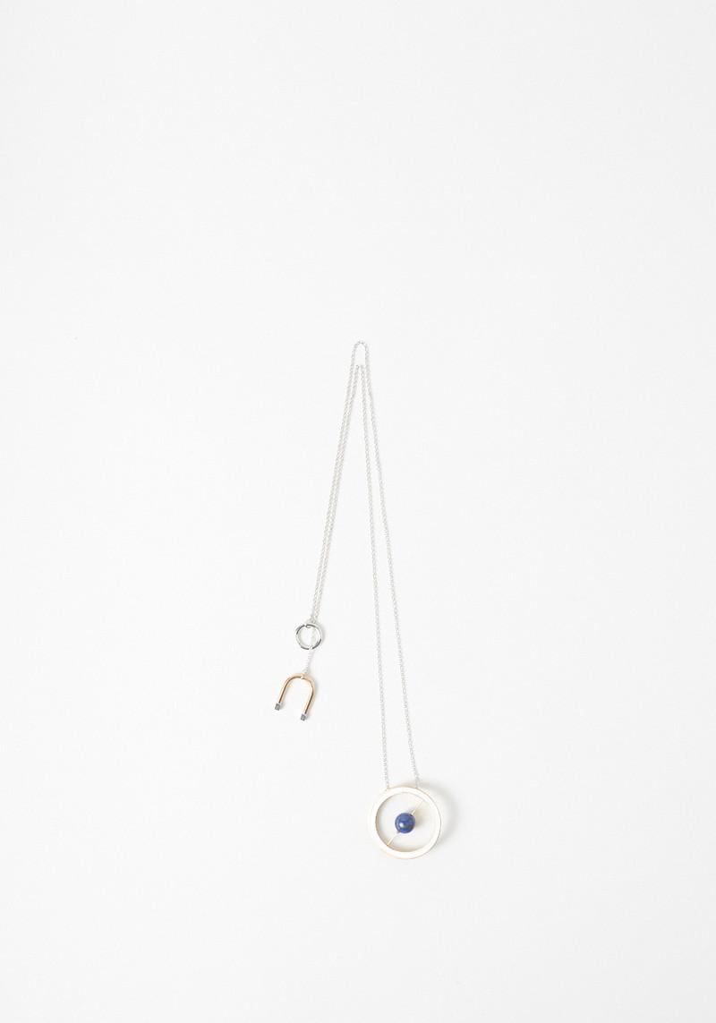 Uribe long enamel and lapis necklace