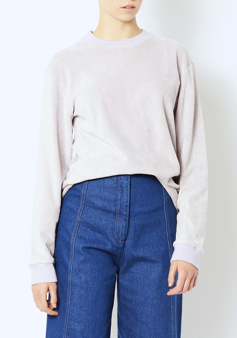Fanmail Lavender Velor sweatshirt