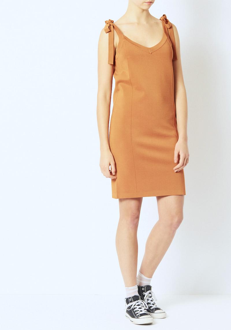 Demylee Ochre Brinley Knit Mini Dress