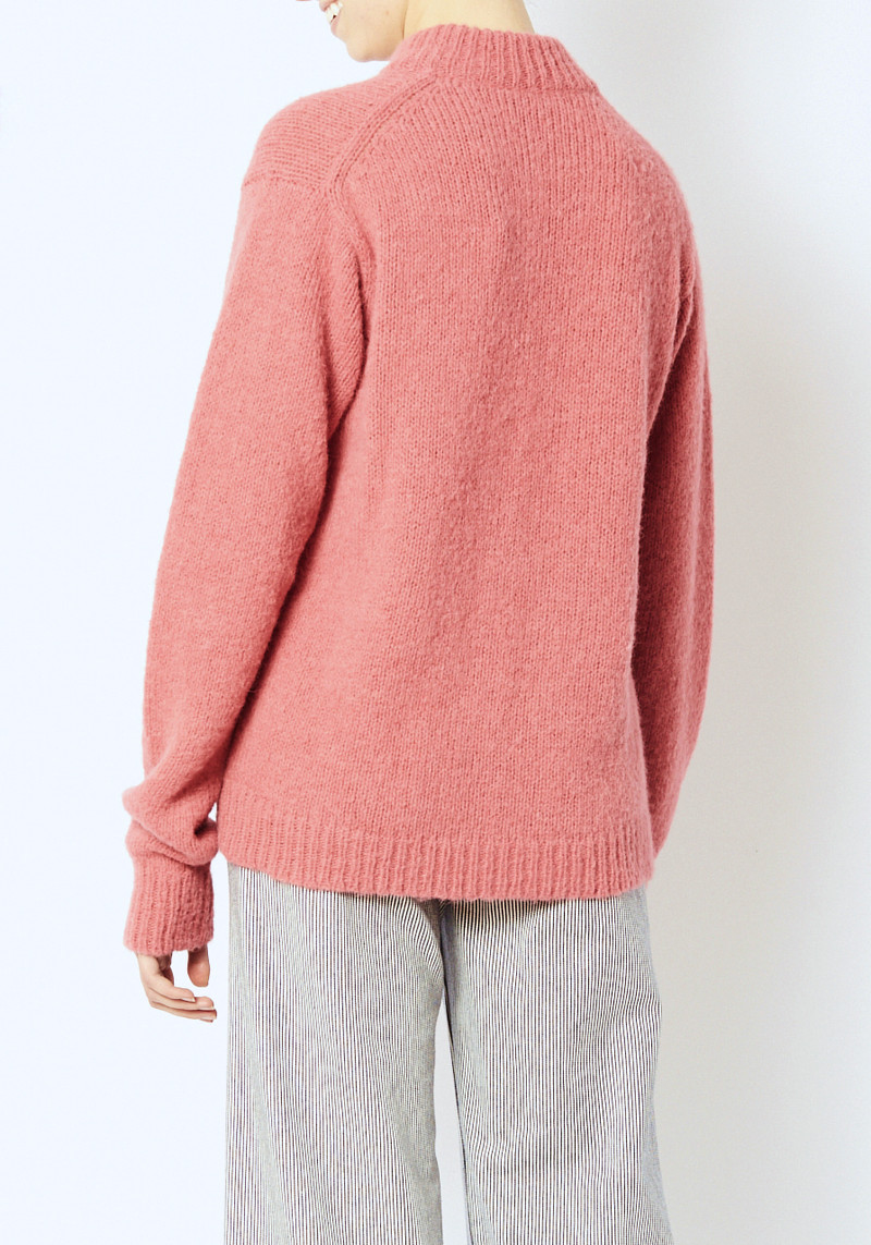 Tibi Oversized cozette pink easy pullover sweater