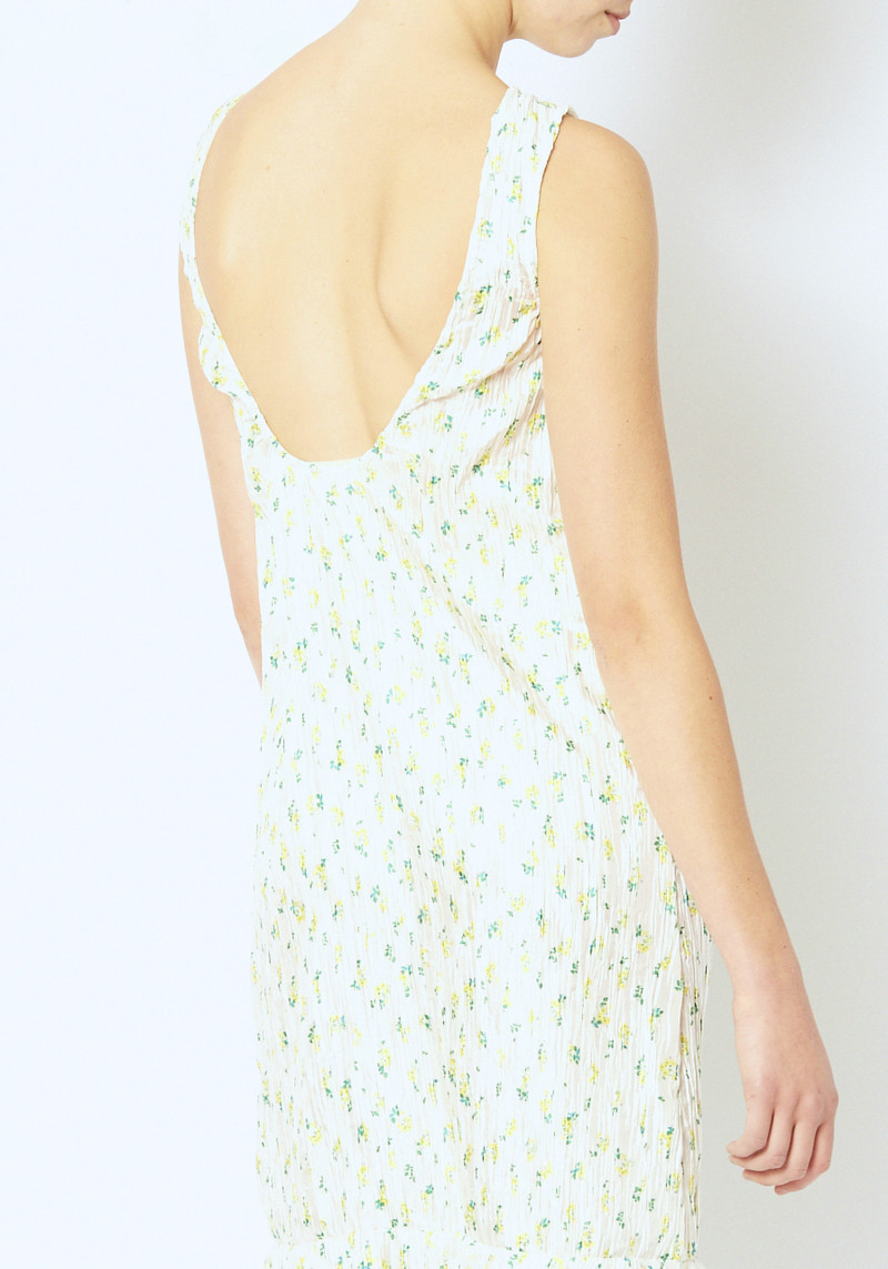 Creatures of Comfort Pleated Habotai Lawrence Maxi Dress