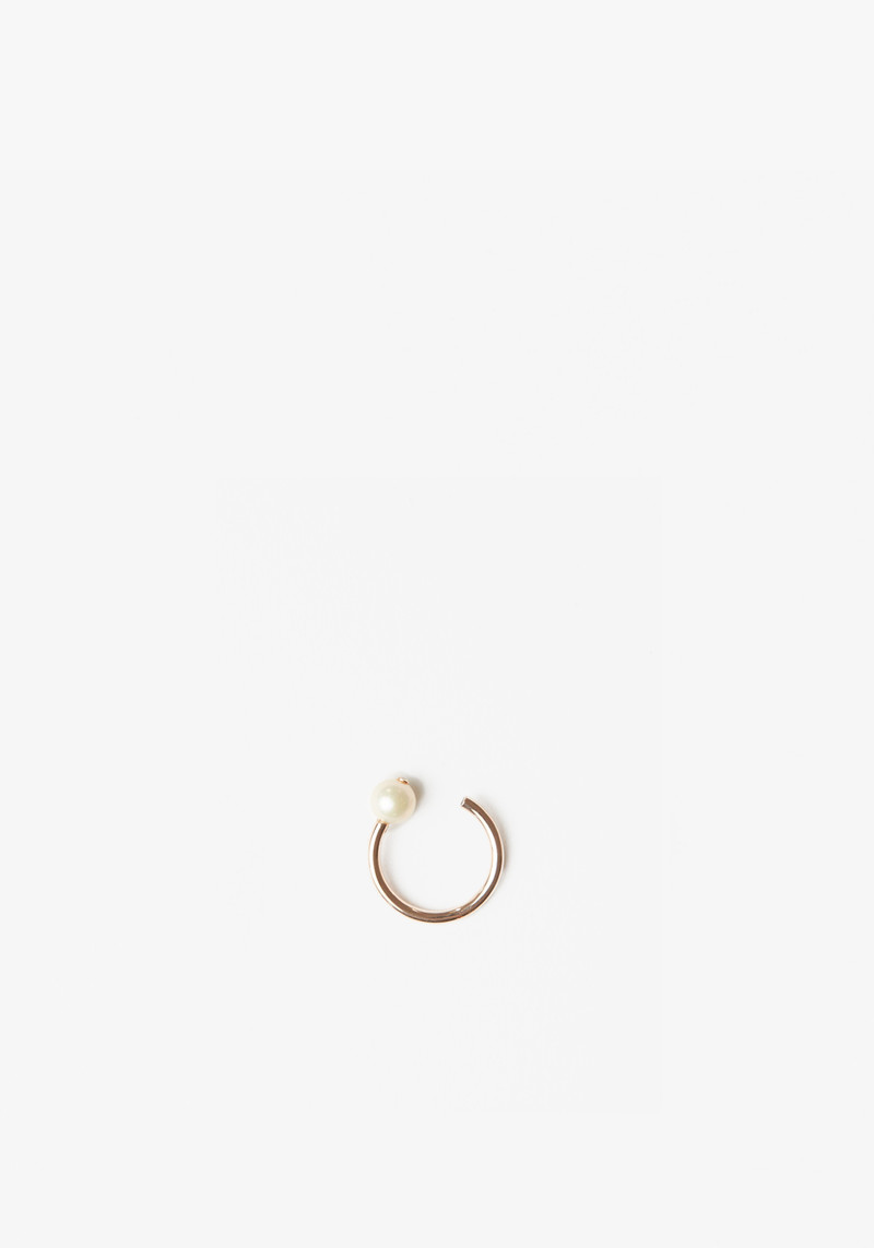Maria Black rose gold ring with pearl