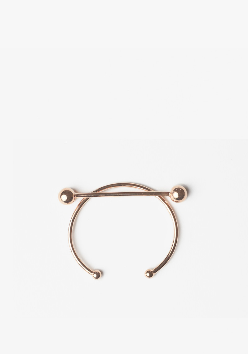 Maria Black rose gold bracelet with bar across the top