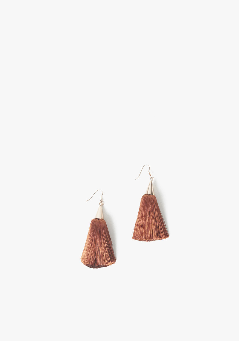 Eddie Borgo short rust tassel earrings
