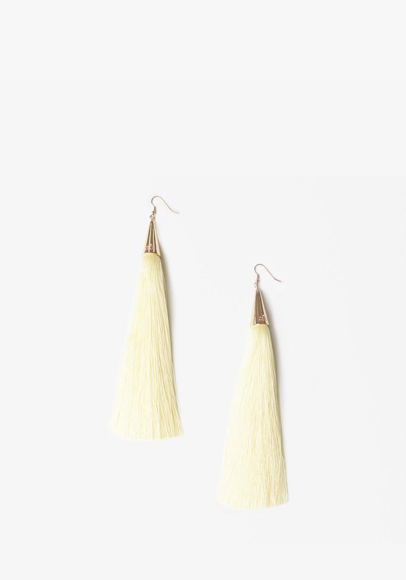 Eddie Borgo yellow long tassel earrings