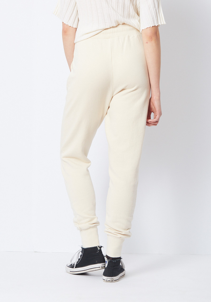 Ganni cream sweat pant