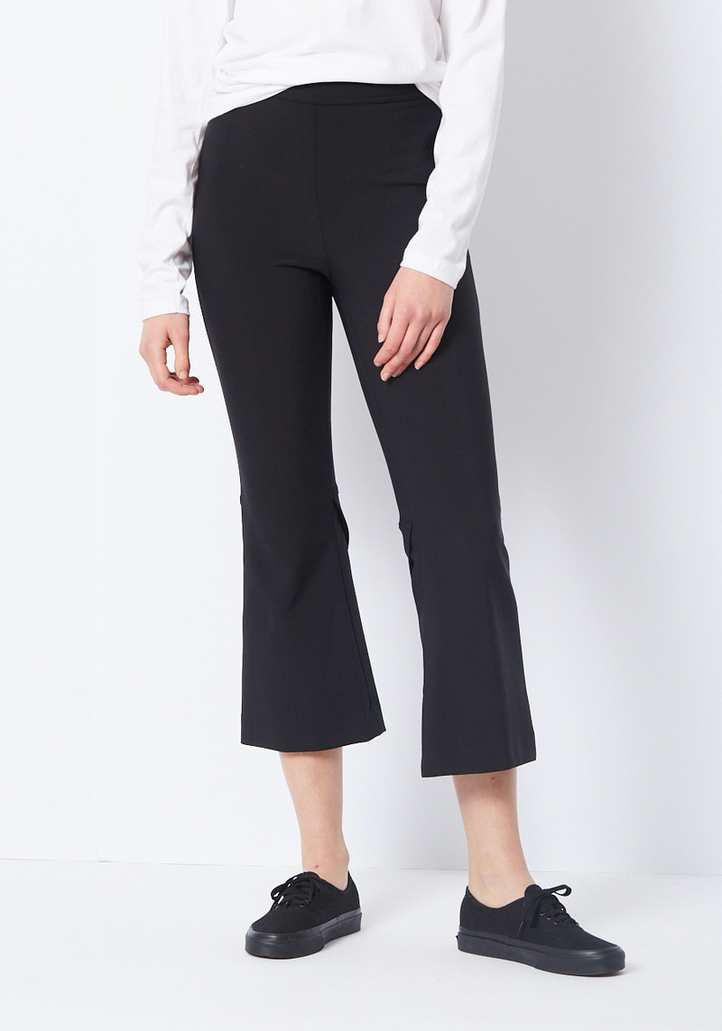 Opening Ceremony high waisted black flare pant