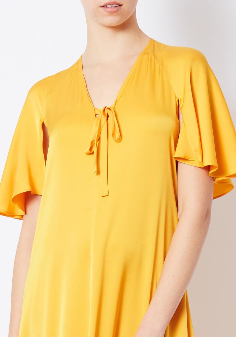 Creatures of Comfort orange silk flowy maxi dress