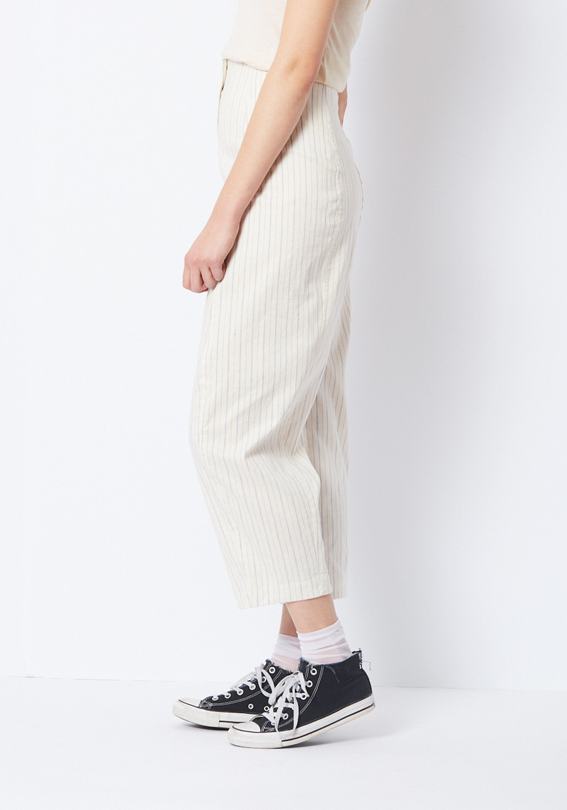 Creatures of Comfort high waisted striped linen pants