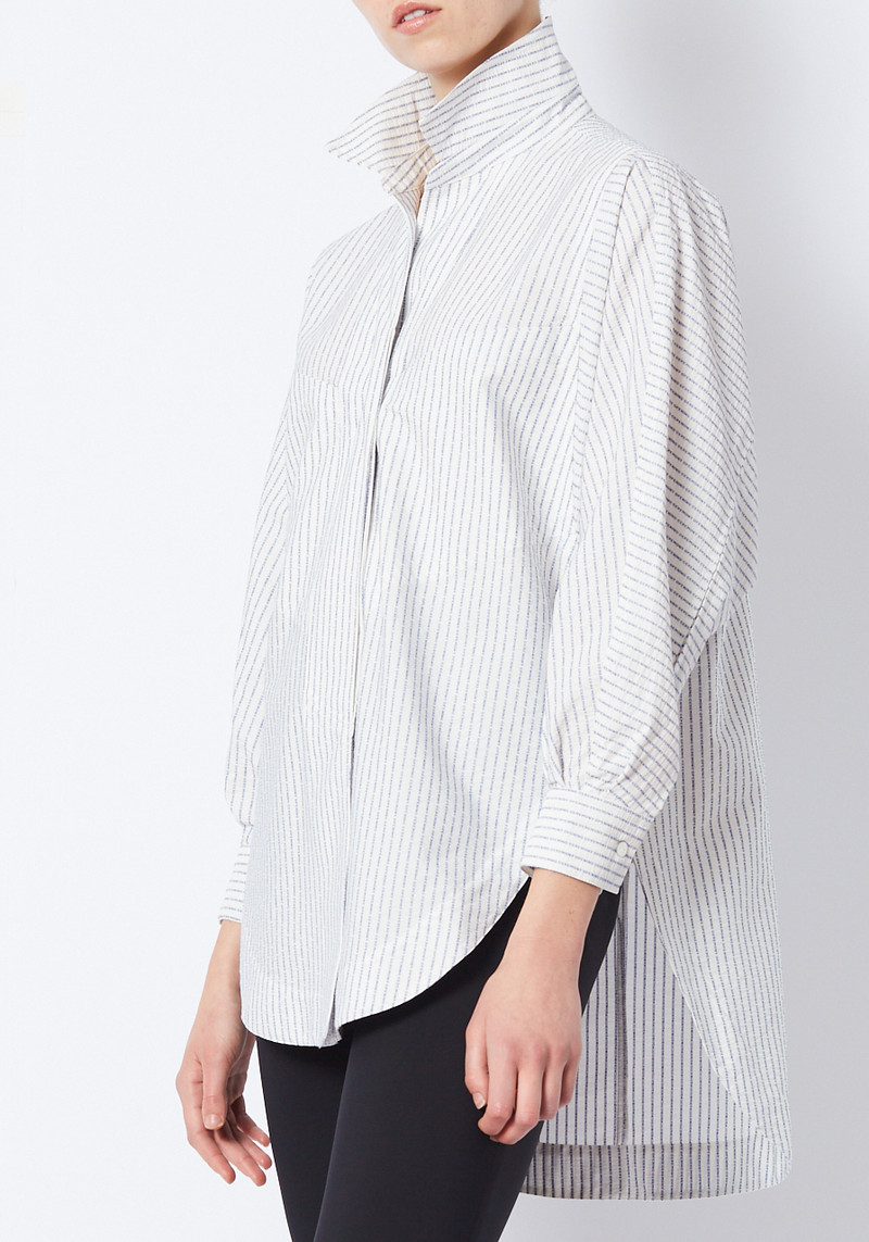 white Opening Ceremony oversized logo Jacquard button down