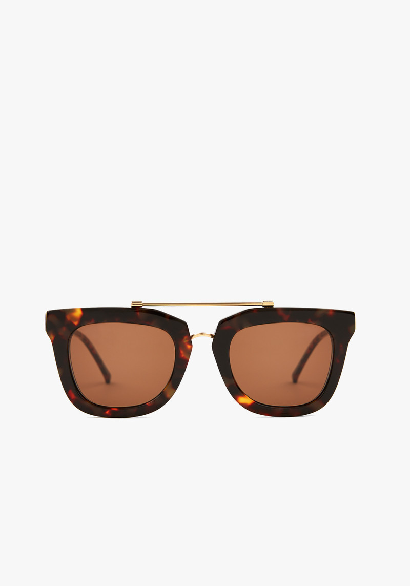 Kaibosh Dark Tortoise Chips & Salsa Remix Sunglasses with Metal Bar