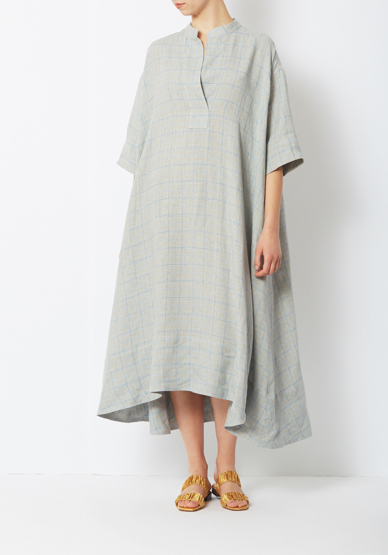 Creatures of Comfort French Plaid Byron loose A line midi Dress