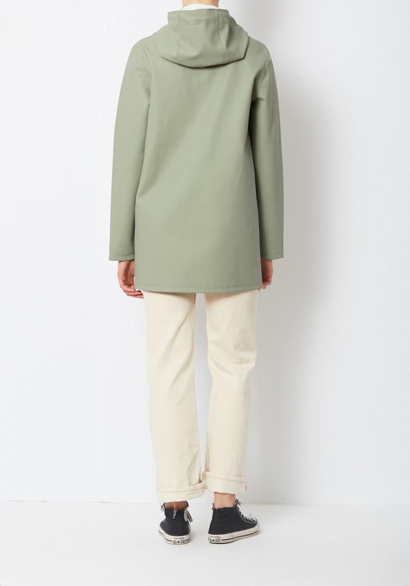 Stutterheim Stockholm Light Khaki Raincoat from sweden