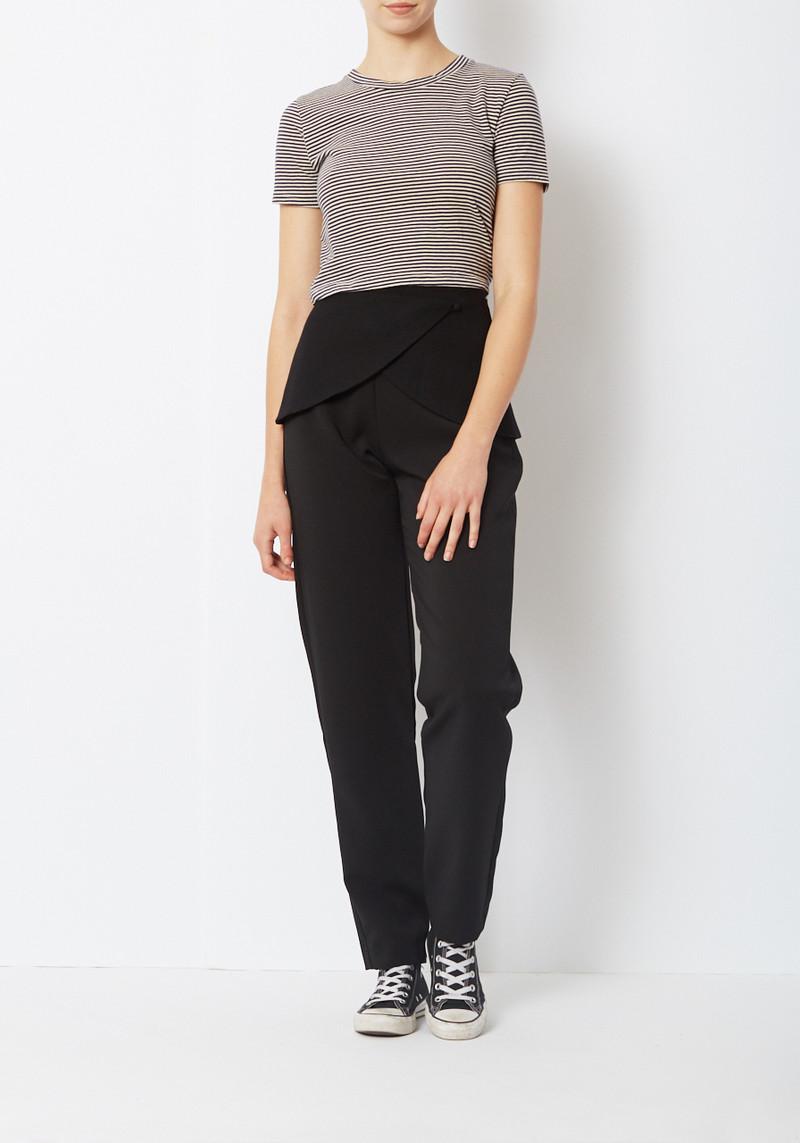 Paris Georgia Black Suiting Peplum Belt