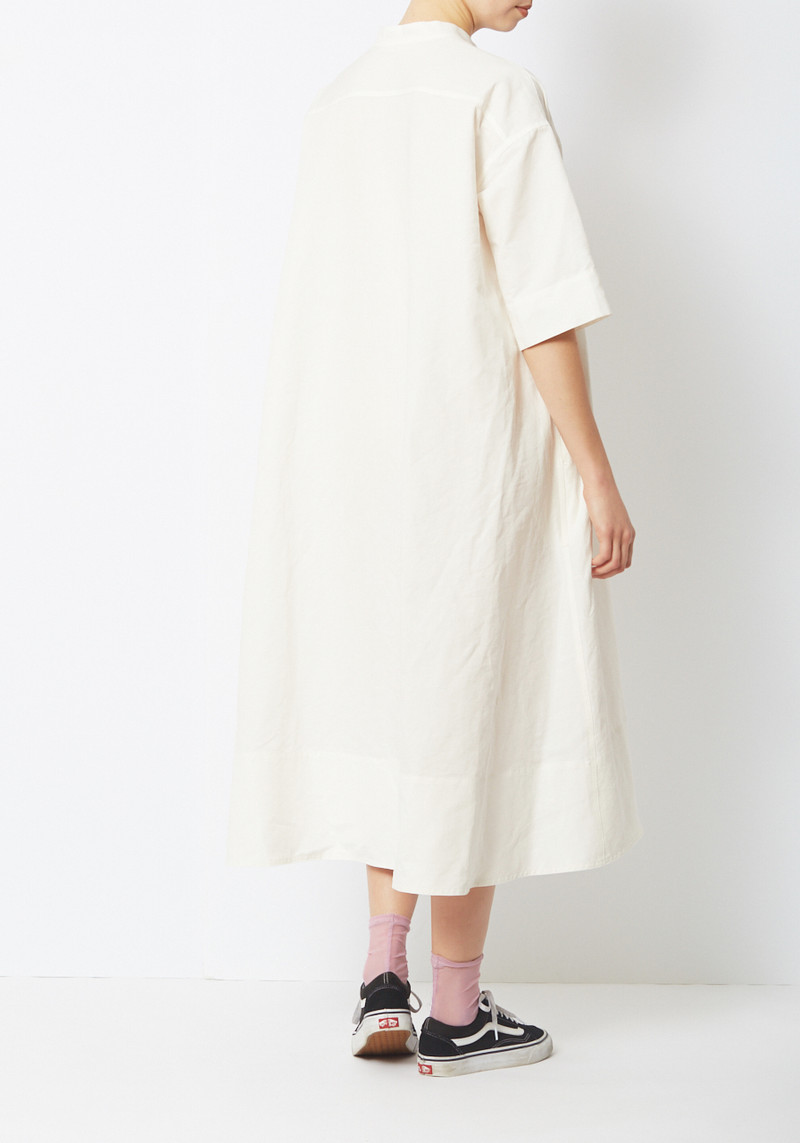 Creatures of Comfort White Cotton Ripstop Byron Dress