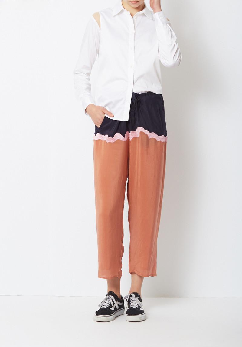 Nikki Chasin Silk Pj style Enzo Drawstring Pant