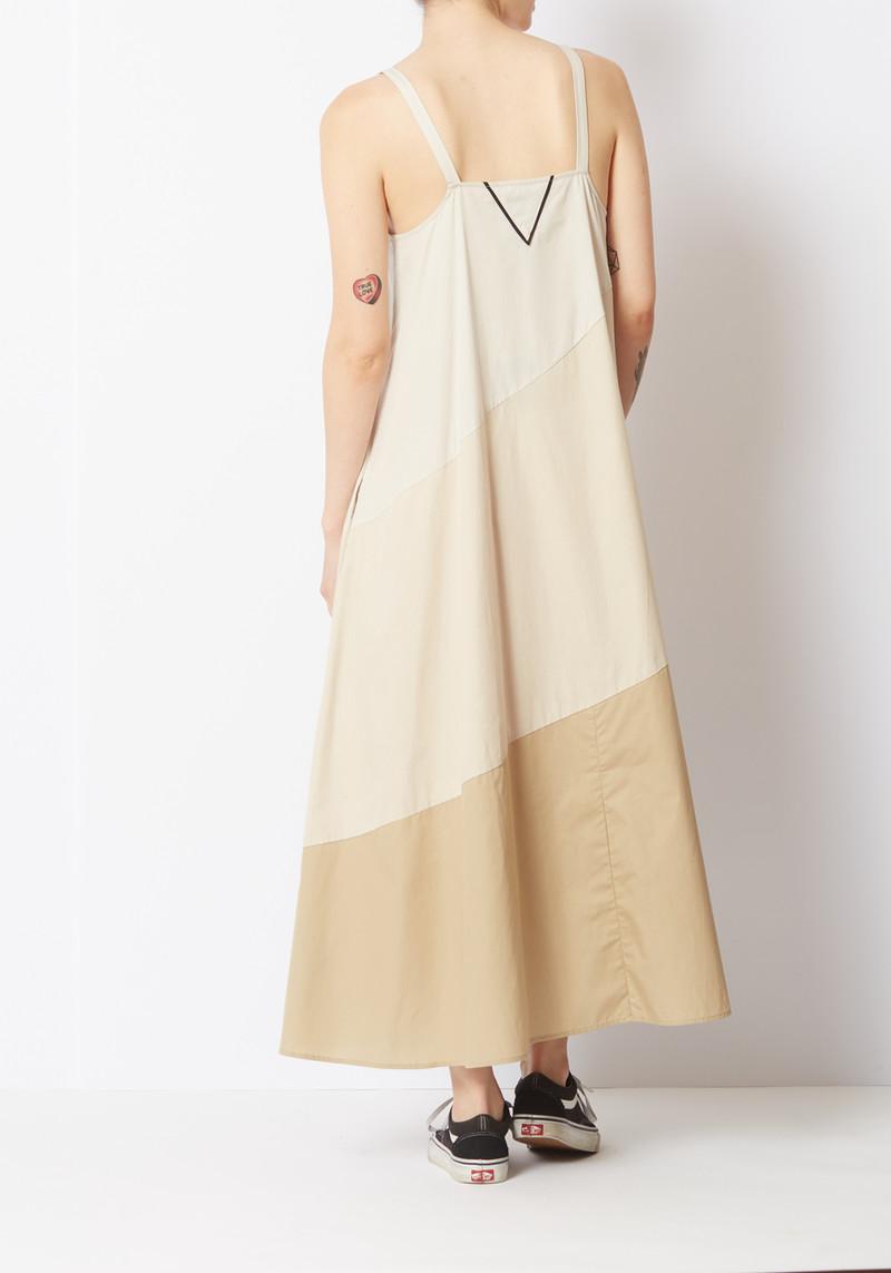 Veda Tan Stripe Fiesta Dress
