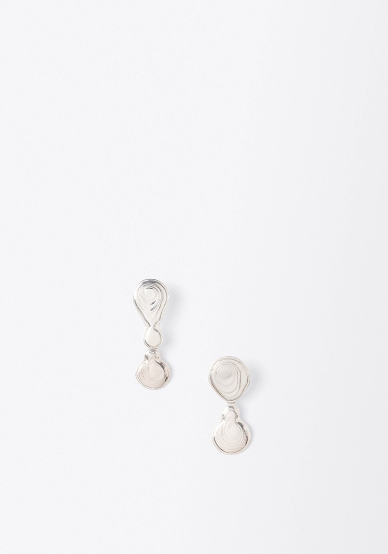 Leigh Miller Silver Double Drop Earrings
