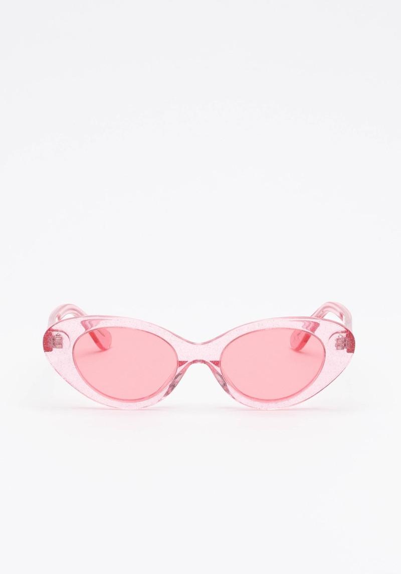Mars Pink Glitter Pilot Cat Eyed Sunglasses