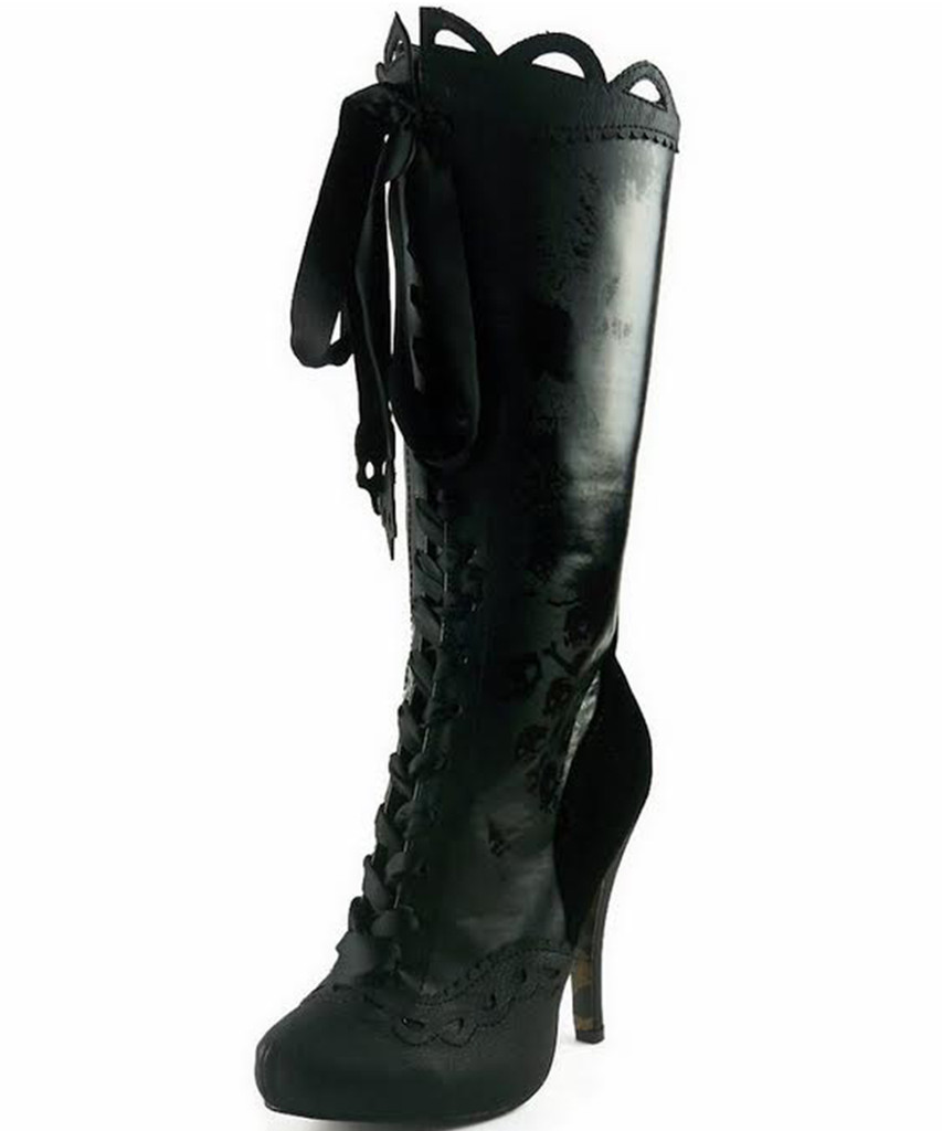 """4"""" Knee High Boot w Gris Grimly Applique - Sizes 5 - 12 - CLEARANCE!"""